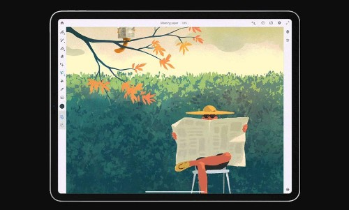 Adobe's New Painting App Brings The Best Of Watercolour And Oil Paint Strokes To Apple's iPad