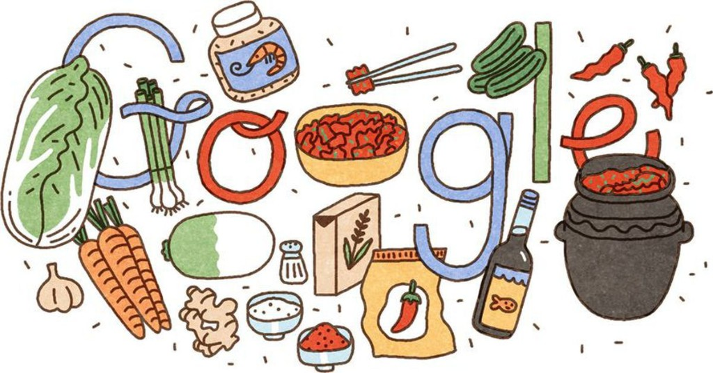 This adorable Google Doodle is an ode to kimchi