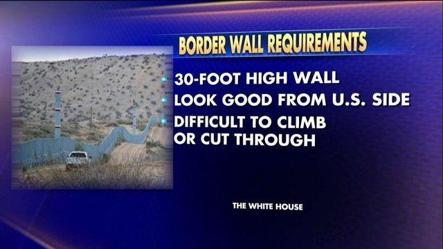Trump wants the border wall to be tall, strong and hot. Smoking hot.