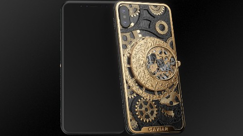 Totally bonkers case turns the iPhone XS into a mechanical watch