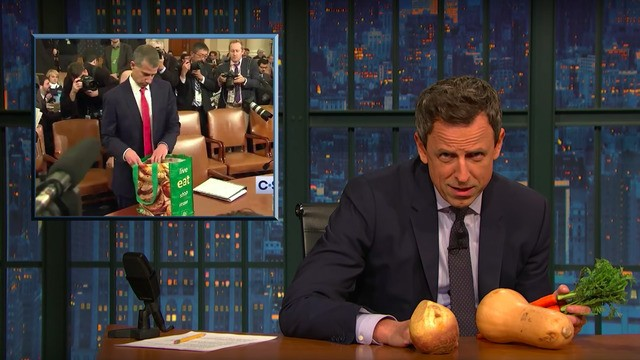 Seth Meyers mocks the weird props Republicans brought to Trump's impeachment hearings