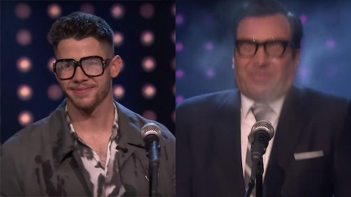 Nick Jonas And Jimmy Fallon Go Head-To-Head In A Very Wet Singing Contest