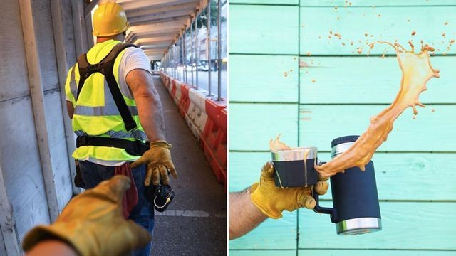 Construction worker dad parodies influencers with his hilarious Instagram account. Turns out, it's a marketing stunt.