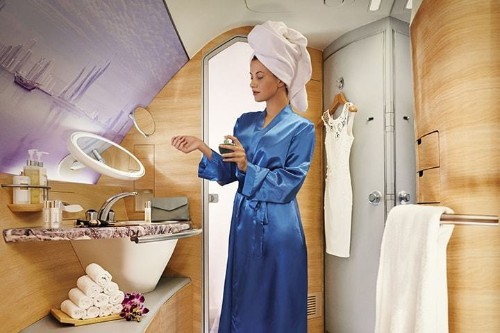 Emirates airline's first class shower attendants banned in UK