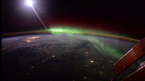 Tim Peake's space snaps capture the otherworldly essence of the Aurora Borealis