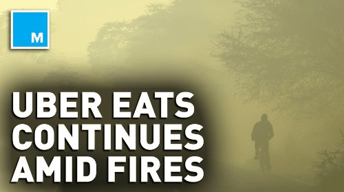 Uber Eats riders continue to deliver amid Australia fires