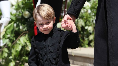 This photo of Prince George at the royal wedding has officially got the meme treatment