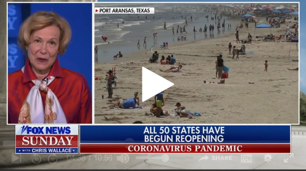 Birx 'very concerned' about coronavirus spreading through Memorial Day weekend crowds