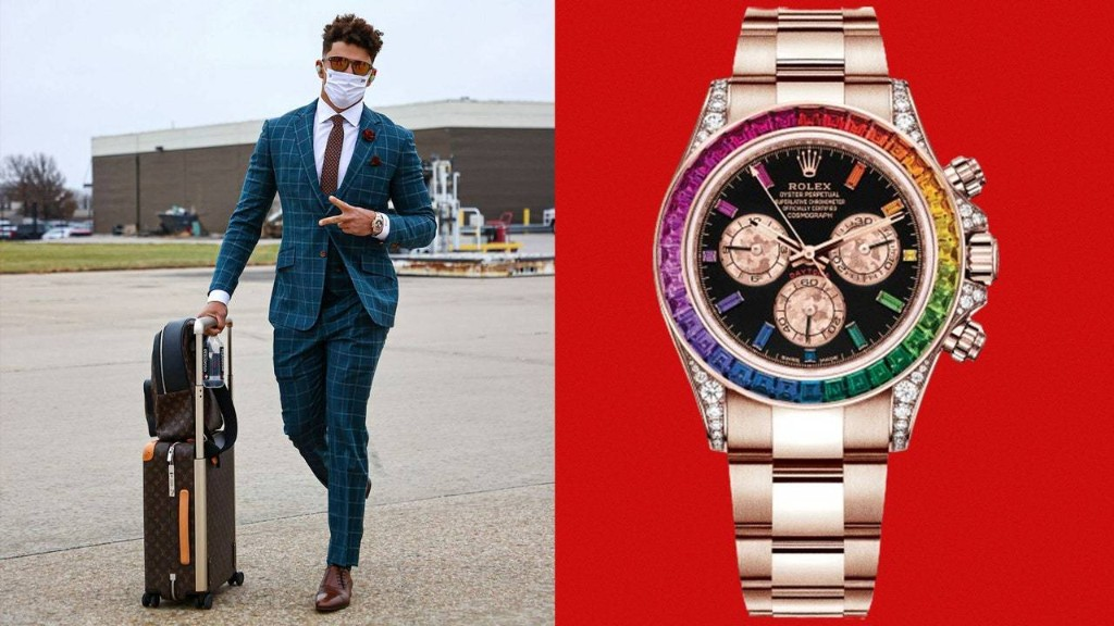 Patrick Mahomes, the Funnest Player in the NFL, Wears the Funnest Rolex in Existence