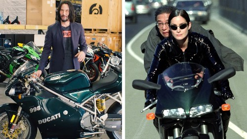 Keanu Reeves Still Has the Motorcycle from The Matrix Reloaded