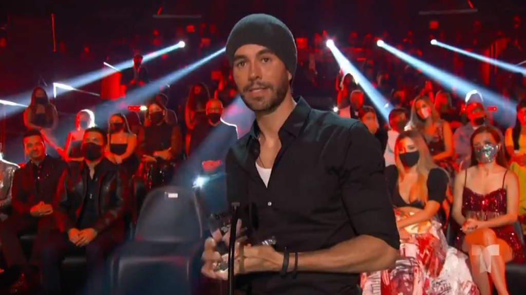 We're not crying, you're crying. Watch Enrique Iglesias tear up at surreal awards show