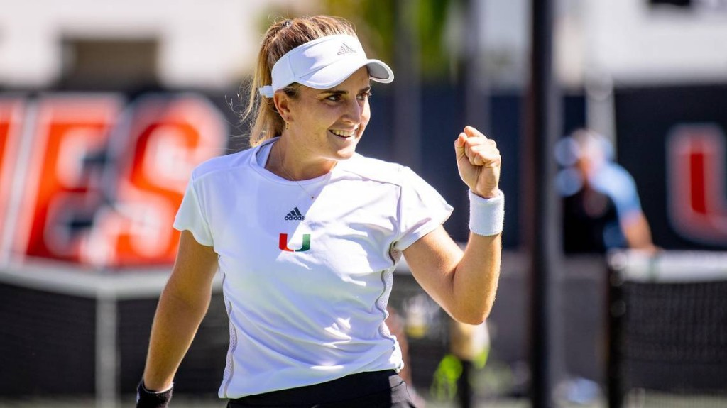 Miami Hurricanes' NCAA tennis champion makes groundbreaking decision about her future
