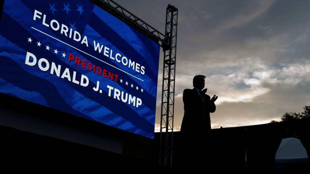 Florida takes another election-eve hurricane hit. Trump's response will be key
