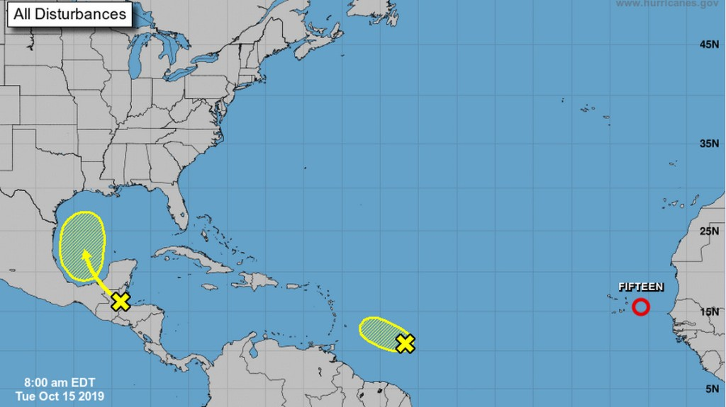3 systems are brewing in the Atlantic. One is forecast to become Tropical Storm Nestor