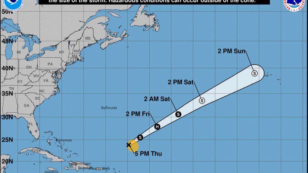 Forecasters say Sebastien could become a Cat 1 soon. Here's where it's going