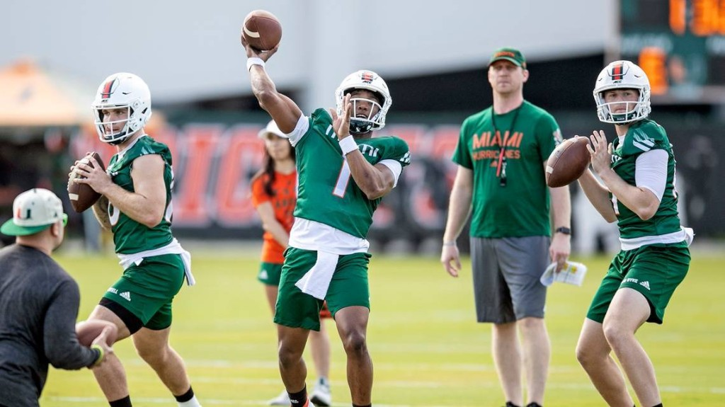What practice observer noticed about UM football coaches. And an update from Manny Diaz.