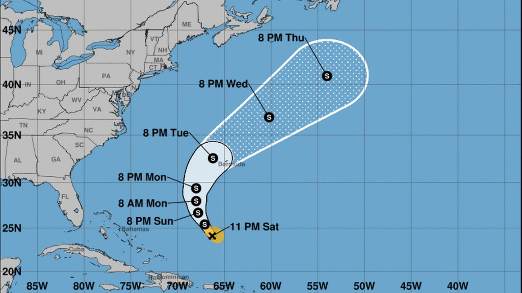 Hurricane Jerry is Tropical Storm Jerry again. And that's what it might be in Bermuda