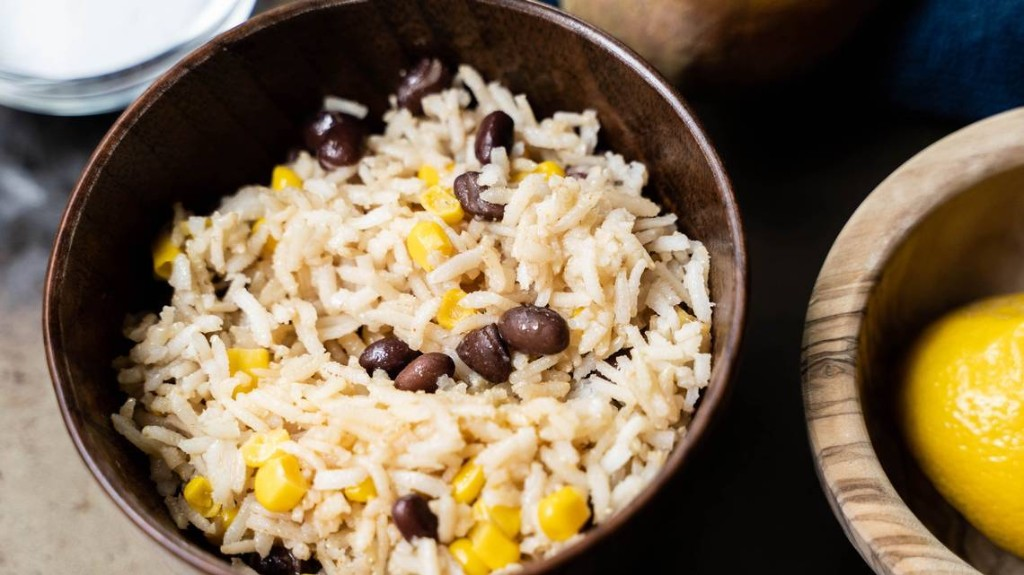 Southwest rice and bean salad is a zesty side dish