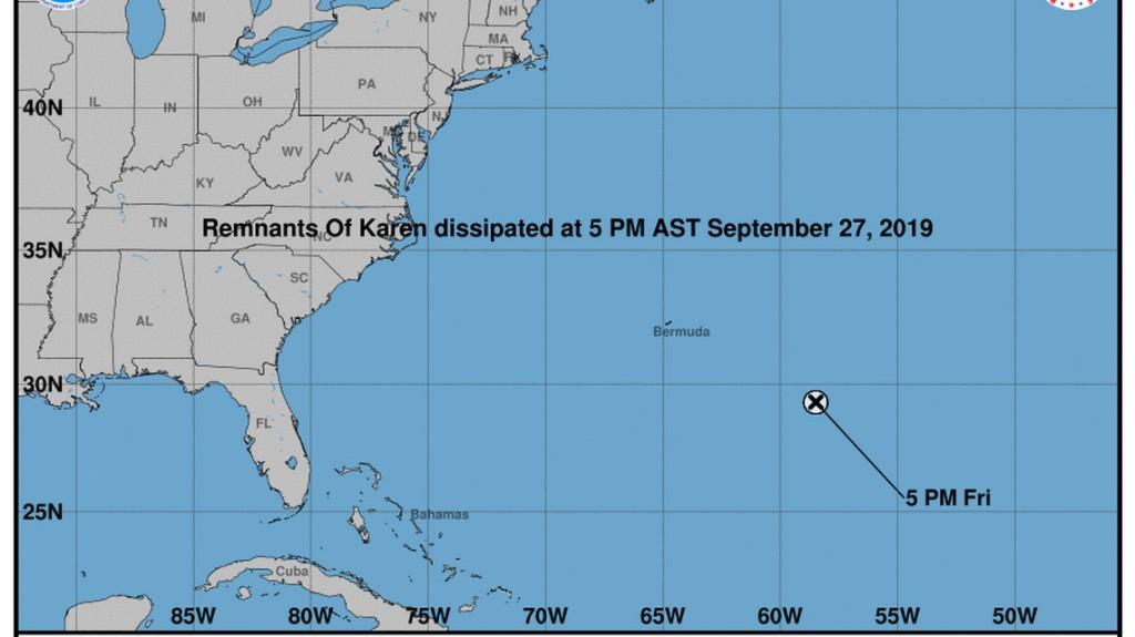 Karen fades away in the Atlantic mid-loop, poses no threat to Florida