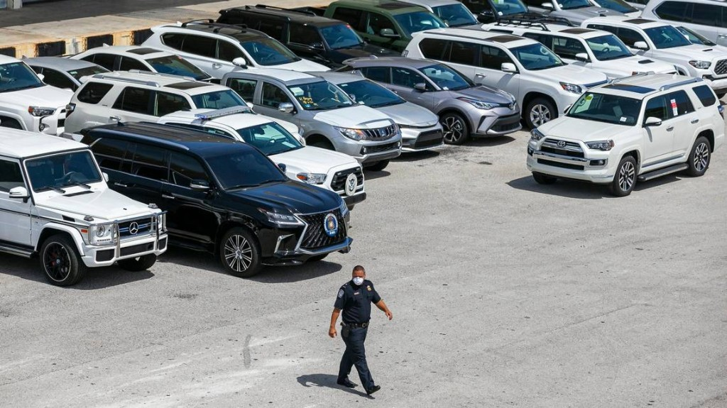Federal agents seize more than 80 luxury cars at Port Everglades bound for Venezuela