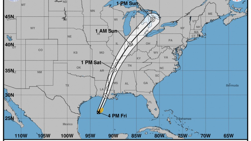 Tropical Storm Olga forms in the Gulf with no threat to Florida