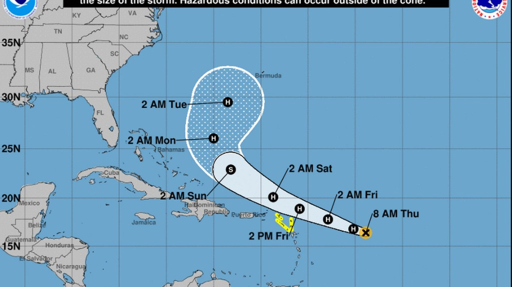 Tropical Storm Jerry is about to become a hurricane