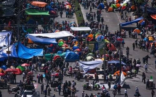 Canaco: negocios perderán 3.6 mdp por plantón en Reforma