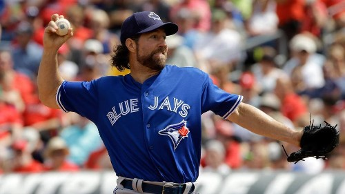 Dickey having best camp of Blue Jays career