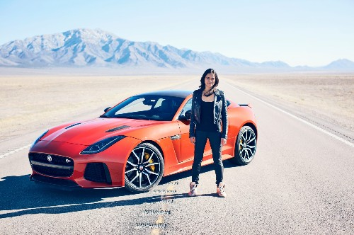 Watch Michelle Rodriguez Pilot a Jaguar F-Type SVR to 201 MPH
