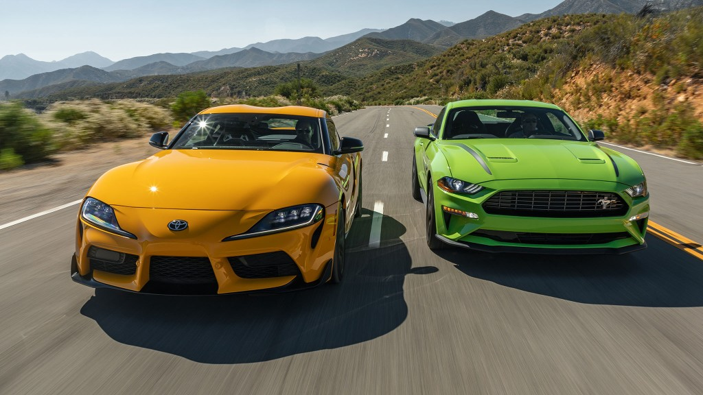 2021 Toyota GR Supra 2.0 vs. 2020 Ford Mustang EcoBoost Premium: Boosted Little Brothers