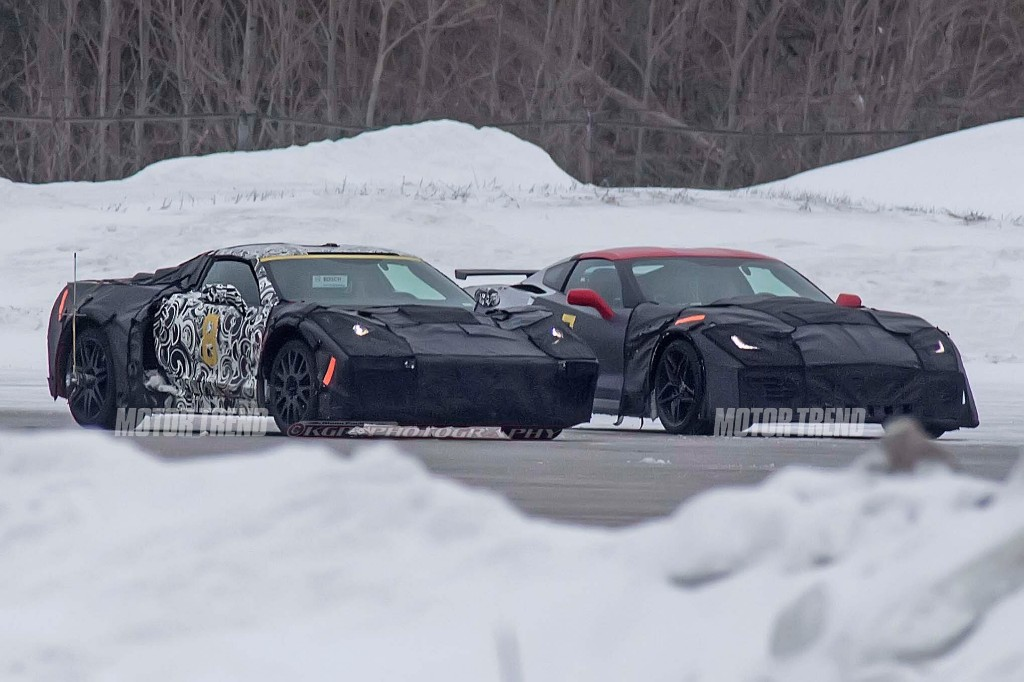 Spied! Mid-Engine Chevrolet Corvette Caught Winter Testing With ZR1