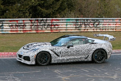 Spied! 2018 Chevrolet Corvette ZR1 Tests at the Nurburgring
