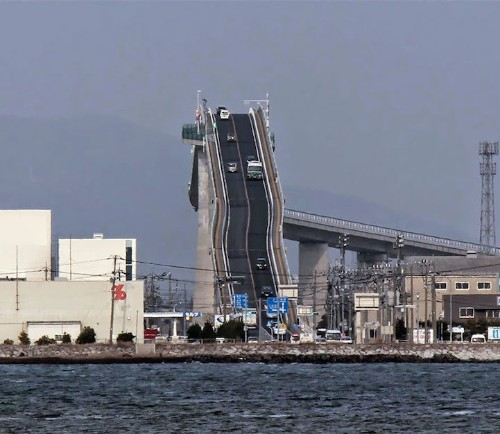Incredibly Steep Bridge in Japan Looks Like a Thrilling Roller Coaster for Drivers