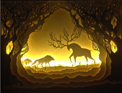 Gorgeous Papercut Light Boxes by Hari & Deepti