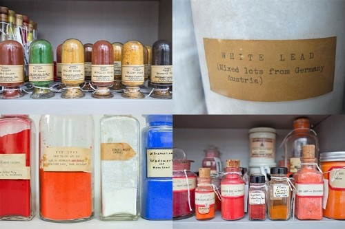 2,500 Pigment Samples Collected from Around the World Are on Display in Harvard's Labs