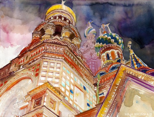 Dreamlike Watercolor Paintings of Iconic Skylines Around the World