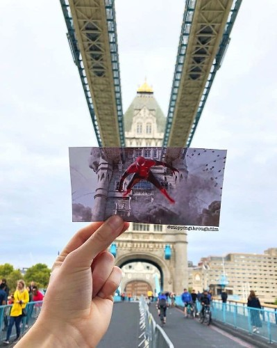 Film Fan Matches Scenes From Famous Movies w/ Real-Life Locations