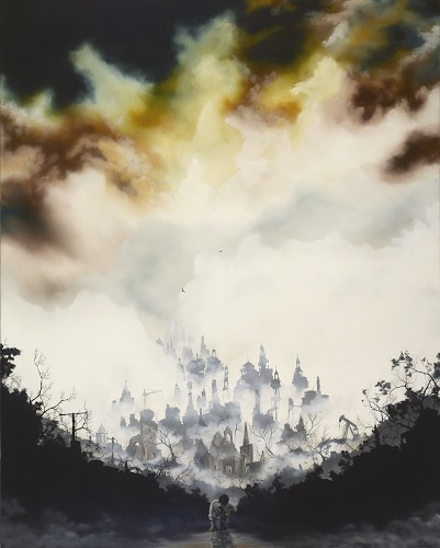 Incredible Oil Paintings of Dark and Foreboding Skies
