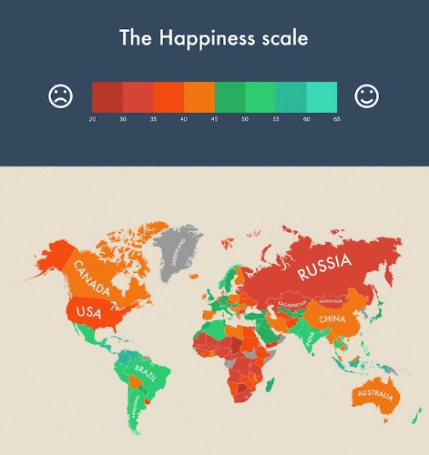 Infographic Visualizes Which Countries are the World's Happiest