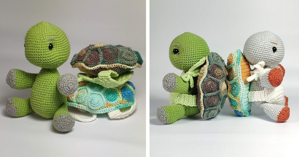 Artist Releases DIY Crochet Pattern for Her Adorable Turtle Toy With Removable Shell