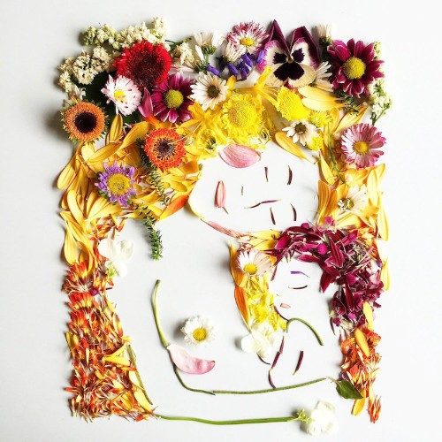 Artist Delicately Crafts Colorful Illustrations From Foraged Flowers and Botanicals