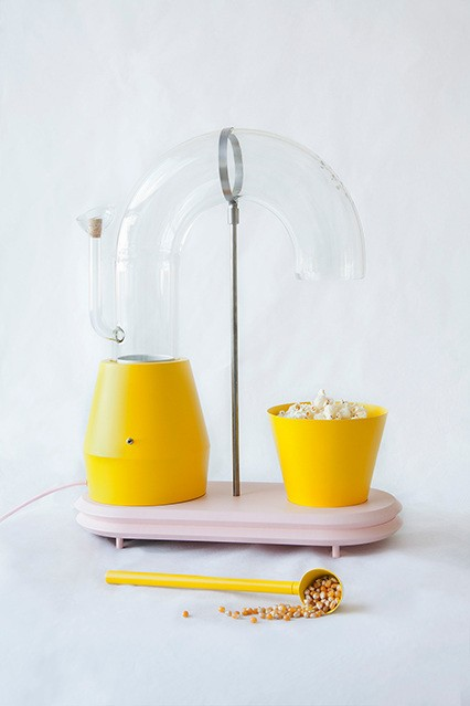 Whimsical Popcorn Machine Resembles a Minimalist Sculpture