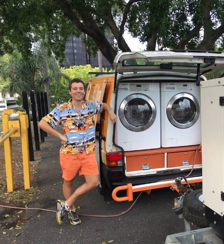 Two Friends Turn Their Van into Australia's First Mobile Laundromat for the Homeless
