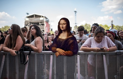 What If Characters From Famous Paintings Attended Music Festivals Today