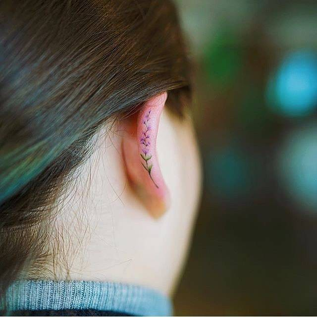 Helix Tattoo Trend Has People Inking Delicate Images Along the Sides of Their Ears