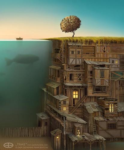 Imaginative Dreamlike Worlds by Digital Artist Gediminas Pranckevicius