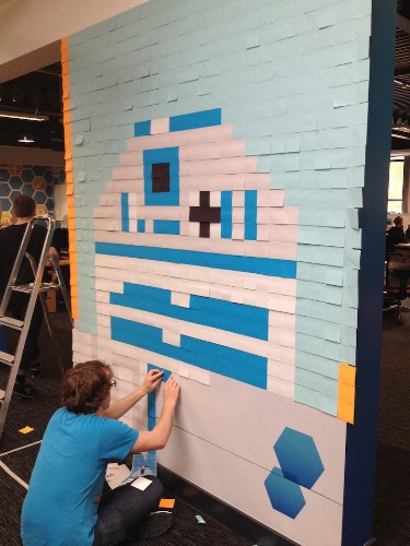 Creative Employees Transform Their Office with 'Star Wars' Murals Made of 3,597 Post-Its