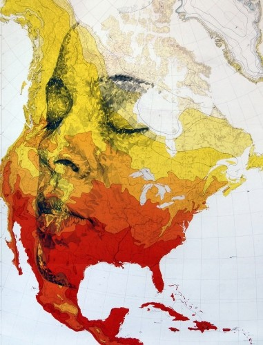 Incredible New Portraits Carved from Old Military Maps