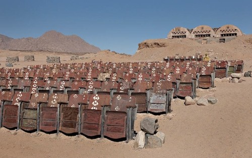 Abandoned Movie Theater Sits in Middle of the Sinai Desert