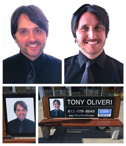 Funny Artist Replaces Bench Ads with Identical Self-Portraits